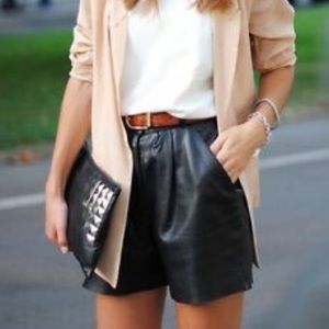 Gap Leather Shorts NWT